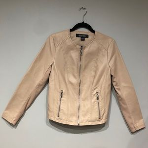 Kenneth Cole Reaction Moto Jacket Vegan Leather S